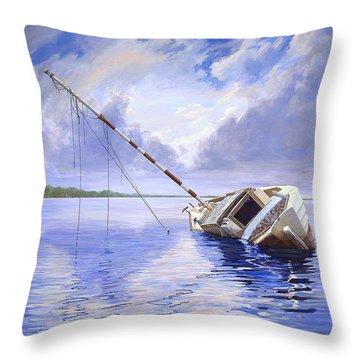 Stormy Summer Throw Pillow