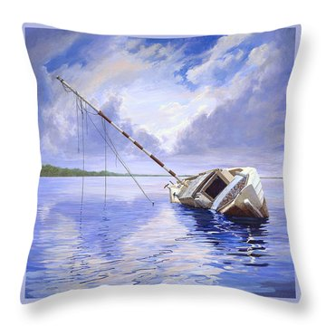 Throw Pillow featuring the painting Stormy Summer by AnnaJo Vahle