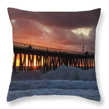 Stormy Sunset Throw Pillow