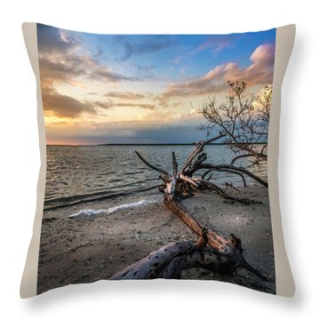 Throw Pillow featuring the photograph Stormy Sunset by Marvin Spates