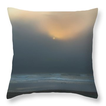 Throw Pillow featuring the photograph Stormy Sunset Oregon Coast by Yulia Kazansky