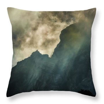 Stormy Wasatch- Rays Throw Pillow