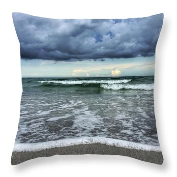 Stormy Waves Throw Pillow