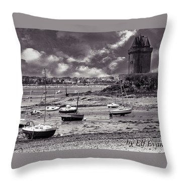 Throw Pillow featuring the photograph Stormy Weather by Elf Evans