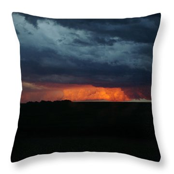 Stormy Weather Throw Pillow by Kathy M Krause