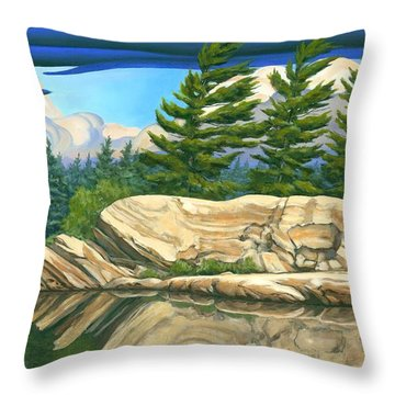 Throw Pillow featuring the painting Stormy Weather by Michael Swanson