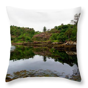 Throw Pillow featuring the photograph Stornoway Calm by Rasma Bertz