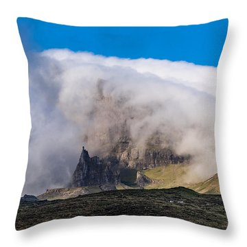 Throw Pillow featuring the photograph Storr In Cloud by Gary Eason