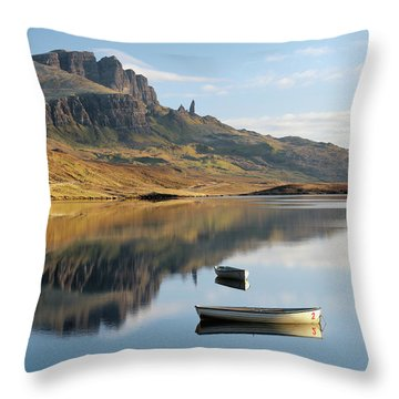 Throw Pillow featuring the photograph Storr Reflection by Grant Glendinning