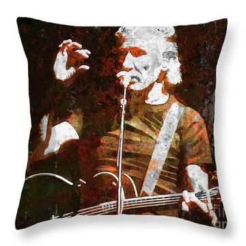 Story Tellin Throw Pillow by Robert Ball