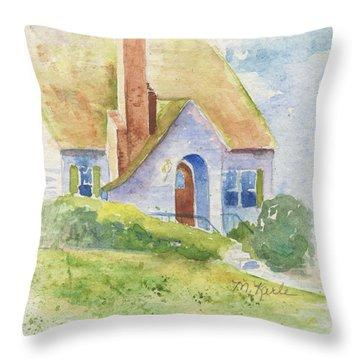 Storybook House Throw Pillow