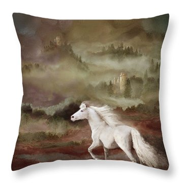 Storybook Stallion Throw Pillow