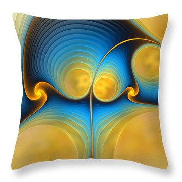 Throw Pillow featuring the digital art Storyline by Anastasiya Malakhova