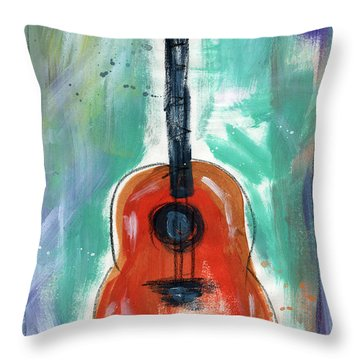 Storyteller's Guitar Throw Pillow