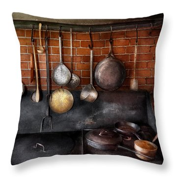 Stove - The Gourmet Chef  Throw Pillow by Mike Savad