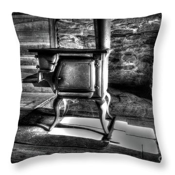 Throw Pillow featuring the photograph Stove by Douglas Stucky