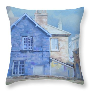 Stow On The Wold Throw Pillow by Carol Strickland