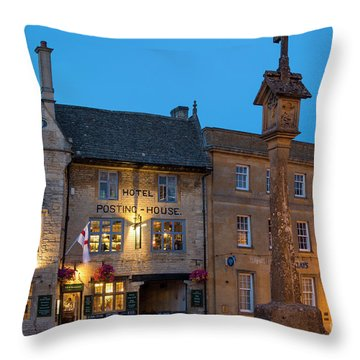 Throw Pillow featuring the photograph Stow On The Wold - Twilight by Brian Jannsen