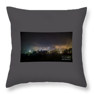 Stowe Vermont After Dark. Throw Pillow