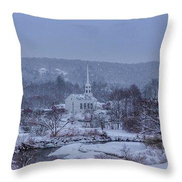 Stowe Vermont Throw Pillow