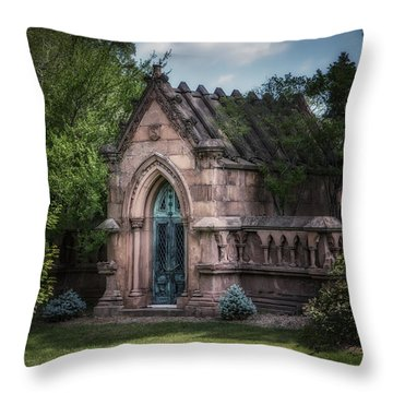 Strader Mausoleum Throw Pillow by Tom Mc Nemar