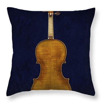 Stradivarius Violin Back Throw Pillow by Endre Balogh