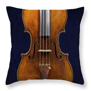 Stradivarius Violin Front Closeup Throw Pillow