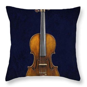 Stradivarius Violin Front Throw Pillow