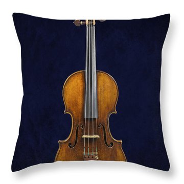 Stradivarius Violin Front Throw Pillow by Endre Balogh