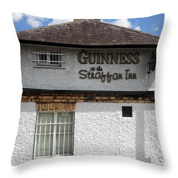 Straffan Inn Maynooth Throw Pillow by Cindy Murphy - NightVisions