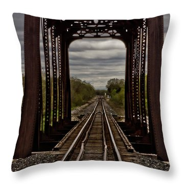 Straight And Narrow Throw Pillow by Jill Smith