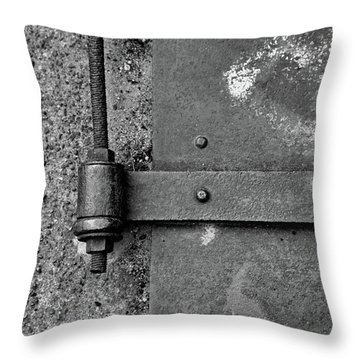 Throw Pillow featuring the photograph Straight Metal by Karol Livote