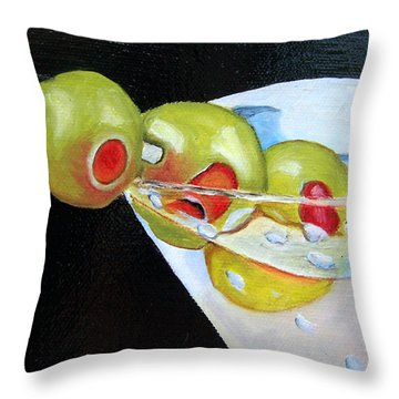 Straight Up - Sold Throw Pillow by Susan Dehlinger