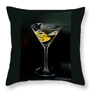 Straight Up And Twisted Throw Pillow by Susan Dehlinger