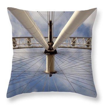 Straight Up London Eye Throw Pillow