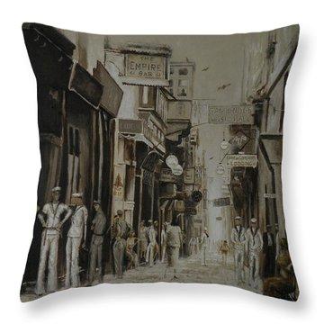 Strait Street Valletta Throw Pillow