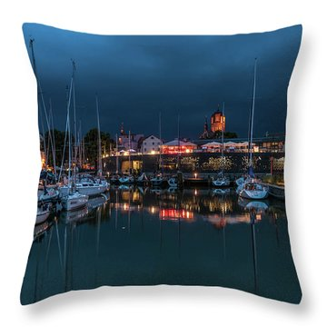 Stralsund At The Habor Throw Pillow