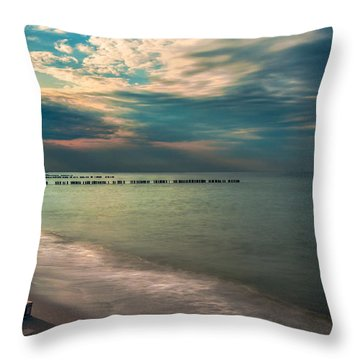 Throw Pillow featuring the photograph Stranded by Julis Simo