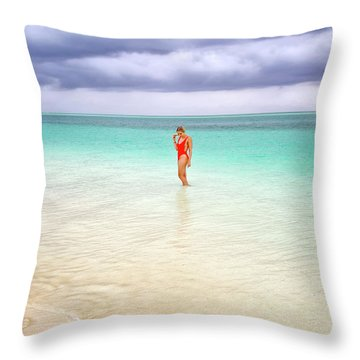 Stranded Throw Pillow by Nicki Frates