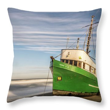 Stranded On The Beach Throw Pillow