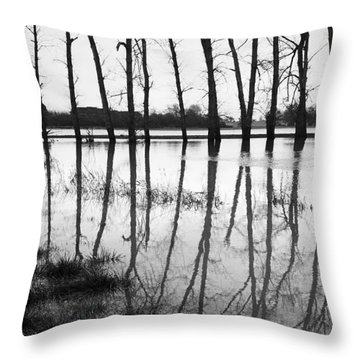 Stranded Trees II Throw Pillow by Hazy Apple