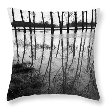 Stranded Trees Throw Pillow by Hazy Apple