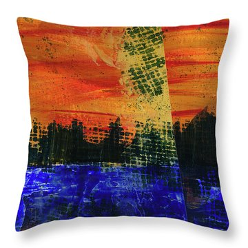 Strange City Throw Pillow