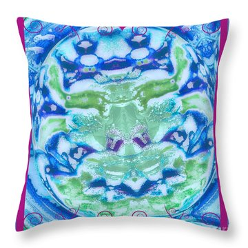 Throw Pillow featuring the photograph Strange Faces by Shirley Moravec