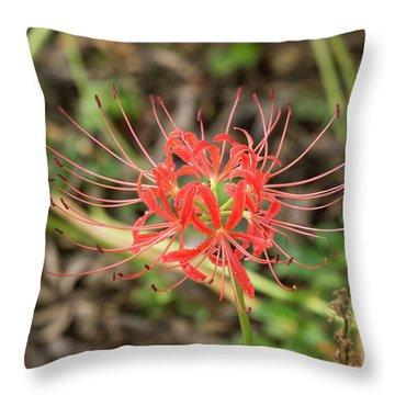 Strange Flower Throw Pillow