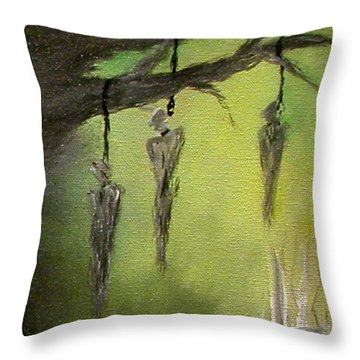 Strange Fruit Throw Pillow