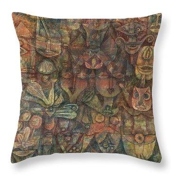 Strange Garden Throw Pillow