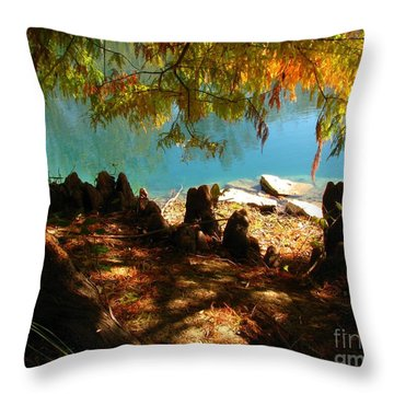 Strange Roots Throw Pillow by Misha Bean