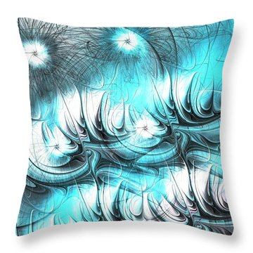 Throw Pillow featuring the digital art Strange Things by Anastasiya Malakhova