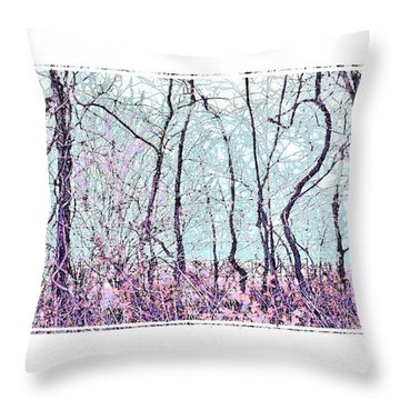 Throw Pillow featuring the photograph Strange Trees by Shirley Moravec